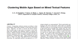 paper clustering mobile apps